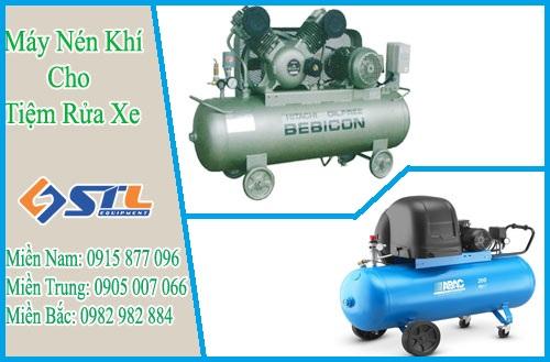 Mua máy nén khí nào phù hợp cho tiệm rửa xe