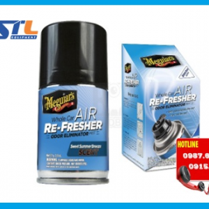 dung dich meguiars whole car air re fresher summer breeze scent g16602 71g