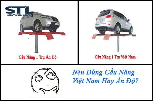 Lý do nên dùng cầu nâng rửa xe 1 trụ Việt Nam hơn Ấn Độ