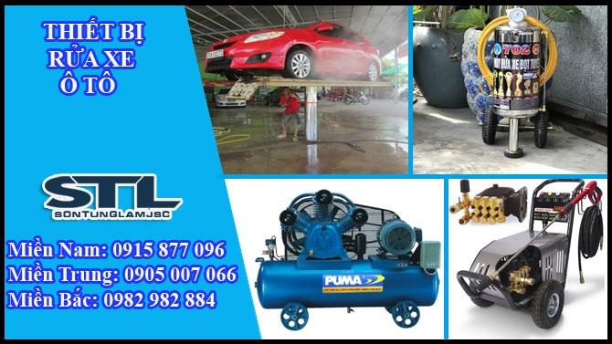 Trọn bộ thiết bị cho tiệm rửa xe chuyên nghiệp