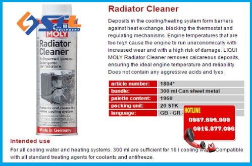 binh ve sinh ket nuoc liqui moly radiator cleaner 1804 300ml
