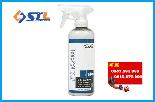 dung dich sealant silica spray chua sio2 carpro reload 500ml